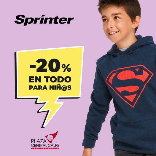 SUPER OFERTA: En #Sprinter toda la colección de niñ@ y junior al -20%