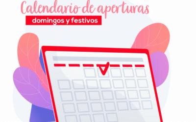 Calendario de aperturas especiales 2021