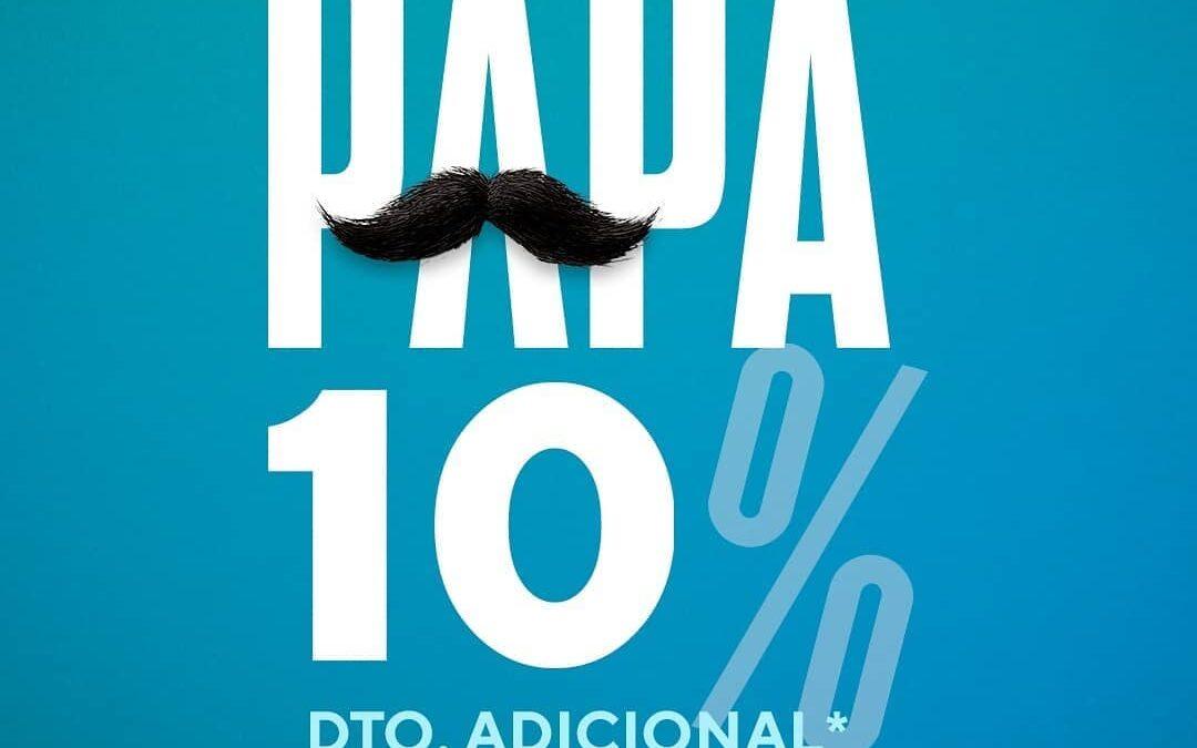 Para un PAPÁ 10 👨🏻 ¡10% de DESCUENTO ADICIONAL en Paco Perfumerías!