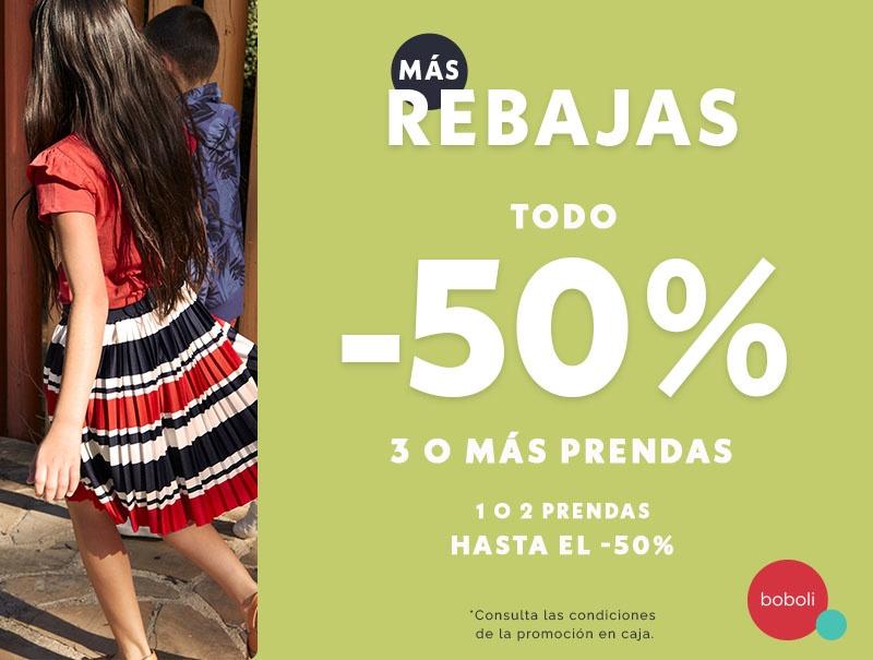 3as REBAJAS en Boboli ¡3 o más prendas TODO al -50% de dto!