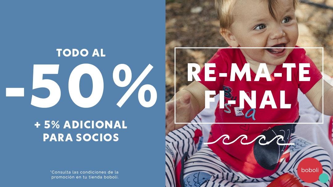 ¡TODO al -50% de dto + 5% adicional para socios!